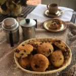Sweet bread rolls with drops of chocolate Tagliatelle shape | Chef service