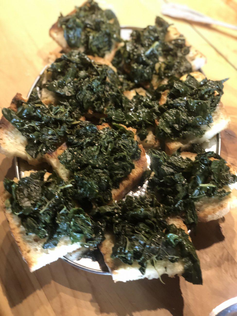 Fette col Cavolo – Bread with kale –